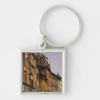 Weathered buildings, Rome, Italy Key Ring