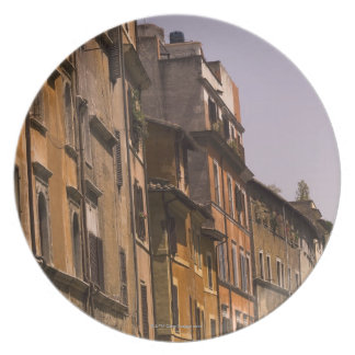 Weathered buildings, Rome, Italy Party Plate