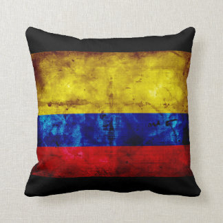 Weathered Colombia Flag Cushion