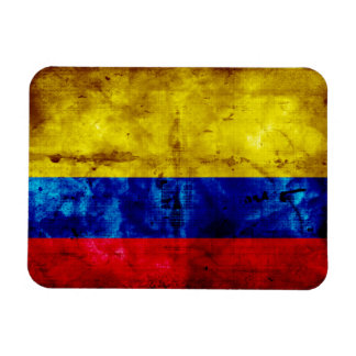 Weathered Colombia Flag Magnets