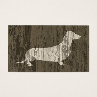Weathered Dachshund Business Card