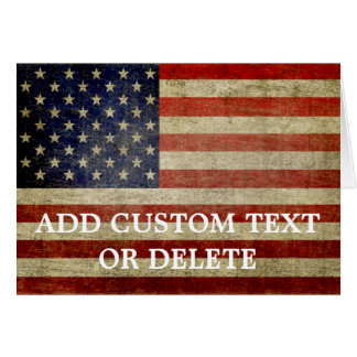 Weathered, distressed American Flag Greeting Card