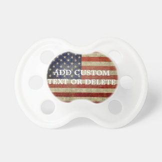 Weathered, distressed American Flag Pacifiers