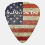 Weathered, distressed American Flag Pick