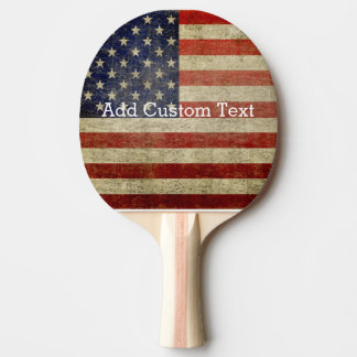 Weathered, distressed American Flag Ping Pong Paddle