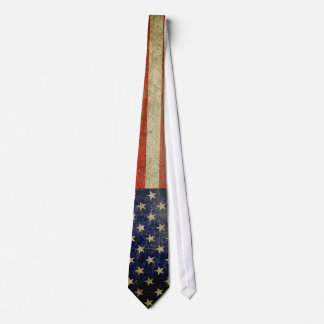 Weathered, distressed American Flag Tie