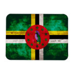 Weathered Dominica Flag Rectangular Magnets
