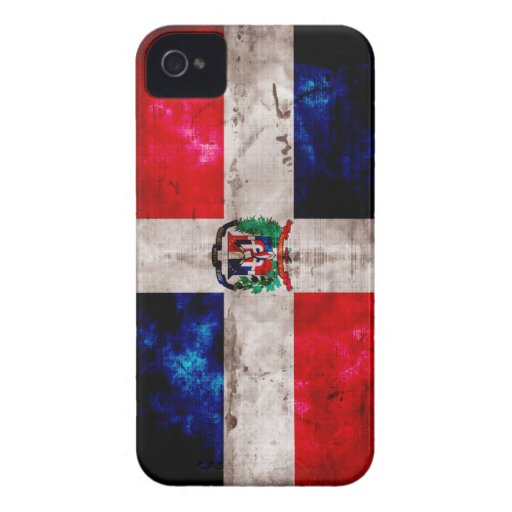Weathered Dominican Republic Flag iPhone 4 Cover