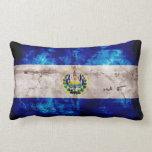 Weathered El Salvador Flag Throw Pillow
