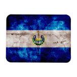 Weathered El Salvador Flag Vinyl Magnets