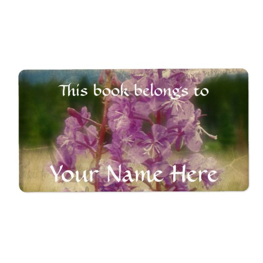 Weathered Fireweed Shipping Label