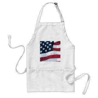 Weathered flag apron