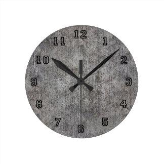 Weathered Grey Cement Sidewalk Clock