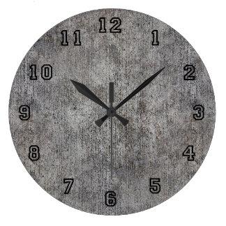 Weathered Grey Cement Sidewalk Wall Clock