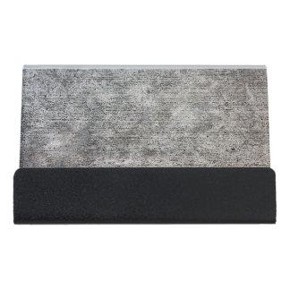Weathered Grey Cement Sidewalk Desk Business Card Holder