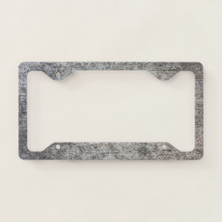 Weathered Grey Cement Sidewalk Licence Plate Frame