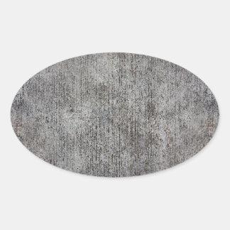 Weathered Grey Cement Sidewalk Oval Sticker