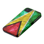 Weathered Guyana Flag iPhone 4 Cases