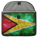 Weathered Guyana Flag Sleeve For MacBook Pro