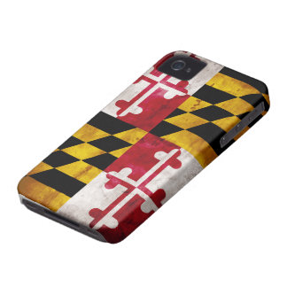 Weathered Maryland Flag iPhone 4 Cases