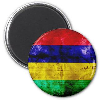 Weathered Mauritius Flag Magnet