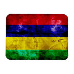 Weathered Mauritius Flag Rectangle Magnet