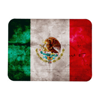 Weathered Mexican Flag Rectangular Photo Magnet