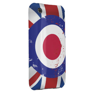 Weathered Mod Target on silk effect Union Jack Case-Mate iPhone 3 Cases
