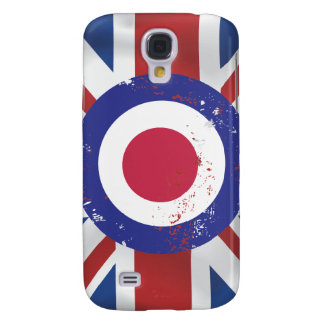 Weathered Mod Target on silk effect Union Jack Samsung Galaxy S4 Covers