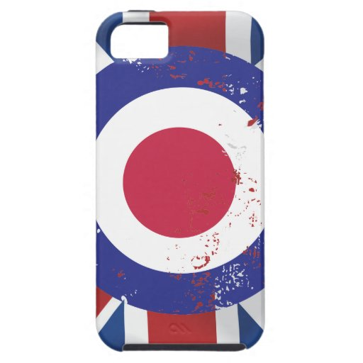 Weathered Mod Target on silk effect Union Jack iPhone 5 Cases