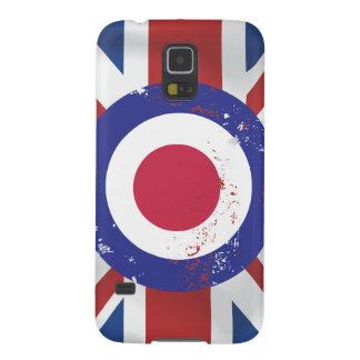 Weathered Mod Target on silk effect Union Jack Samsung Galaxy Nexus Cases