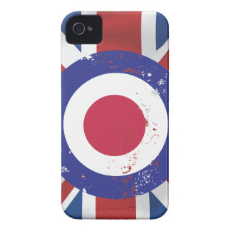 Weathered Mod Target on silk effect Union Jack iPhone 4 Cover
