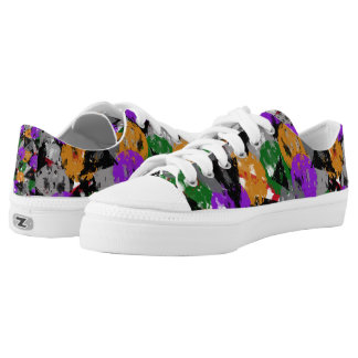 Weathered Multi colored Shape Low Tops