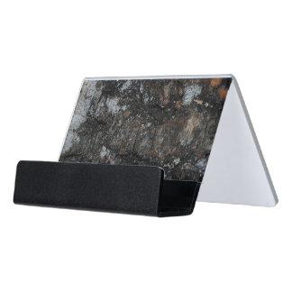 Weathered N Worn Wood Desk Business Card Holder