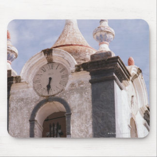 Weathered, old-fashioned clock tower, Portugal Mouse Pad