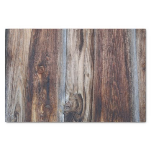 'Weathered Old Wood Wall Texture Tissue Paper