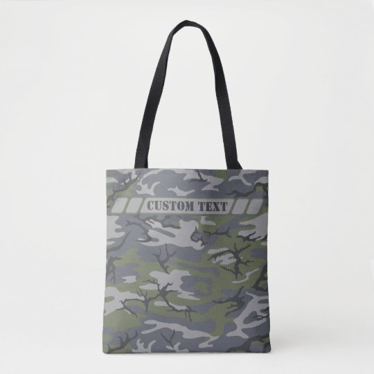Weathered Outcrop Grey Camo Tote w/ Custom Text