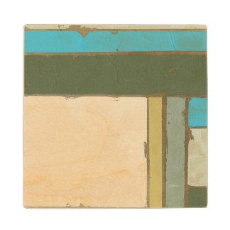 Weathered Panel Painting by Jennifer Goldberger Maple Wood Coaster