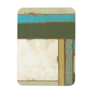Weathered Panel Painting by Jennifer Goldberger Flexible Magnets