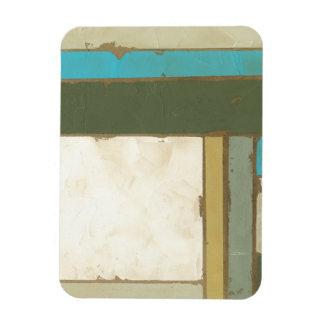 Weathered Panel Painting by Jennifer Goldberger Rectangular Photo Magnet