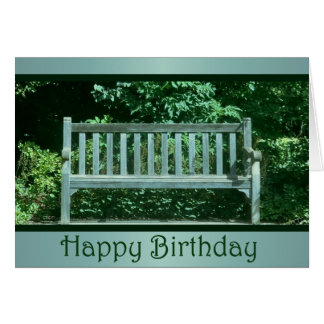 Weathered Park Bench Birthday Card