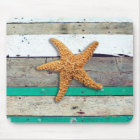 Weathered plank beach rustic seashore mouse mat