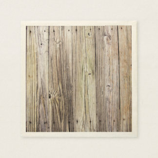 Weathered Rustic Wood Dock Boards Paper Serviettes