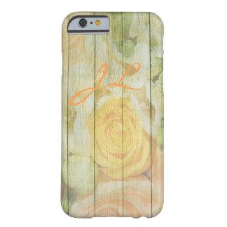 Weathered Rustic Wood Monogrammed Phone Case
