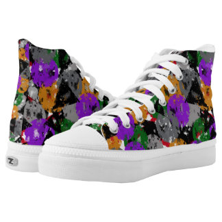 Weathered Shape Printed Shoes