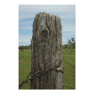 Weathered Sod Home Fence Post - Wild Places Photog Photo