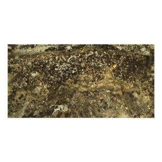Weathered Stone Effect Design. Custom Photo Card