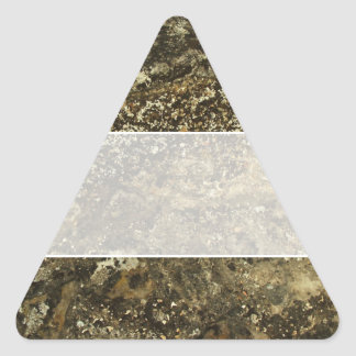 Weathered Stone Effect Design. Triangle Sticker