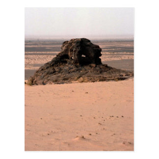 Weathered surrealistic sandstone rock, Niger rock Postcard