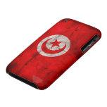 Weathered Tunisia Flag iPhone 3 Covers